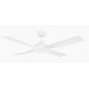 BONDI FOUR BLADE 122CM ABS PLASTIC MATT WHITE CEILING FAN
