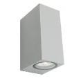 SQUARE SILVER UP DOWN EXTERIOR LIGHT