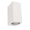 SQUARE WHITE UP DOWN EXTERIOR LIGHT