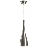 BULLET SATIN NICKEL ONE LIGHT PENDANT