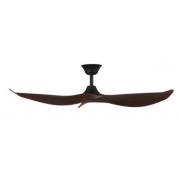 CABARITA 127CM MATT BLACK KOA DC CEILING FAN INC 6 SPEED REMOTE