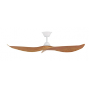 CABARITA 127CM MATT WHITE BAMBOO DC CEILING FAN INC 6 SPEED REMOTE