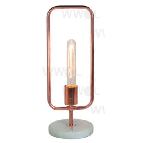 Rose Gold White Marble 43cm Table Lamp