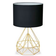GOLD WITH BLACK SHADE 63CM TABLE LAMP