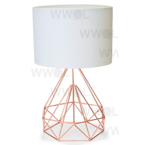 Rose Gold With White Shade 63cm Table Lamp