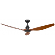 CONCORDE II DC 147CM THREE ABS PLASTIC BLADES BLACK MAHOGANY CEILING FAN