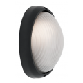 SMALL OVAL BLACK EXTERIOR BUNKER LIGHT