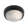 SMALL ROUND BLACK EXTERIOR BUNKER LIGHT