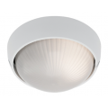 SMALL ROUND WHITE EXTERIOR BUNKER LIGHT
