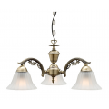 COTTAGE CLASSIC THREE LIGHT ANTIQUE BRASS PENDANT