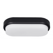 COVE 15W CCT LED WHITE/BLACK OVAL POLYCARBONATE BUNKER