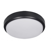 COVE 10W CCT LED WHITE/BLACK ROUND POLYCARBONATE BUNKER