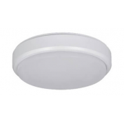 COVE 15W CCT LED WHITE/BLACK ROUND POLYCARBONATE BUNKER