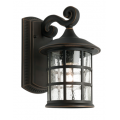 ROUND SMALL TRADITIONAL BRONZE EXTERIOR COACH LIGHT