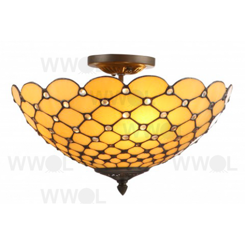 CREAM 16 INCH LEADLIGHT CLOSE TO CEILING