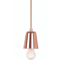 CURVED COPPER SUSPENSION PENDANT