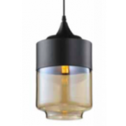 CYLINDER LARGE MATT BLACK SMOKE PENDANT