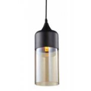 CYLINDER MATT BLACK SMOKE PENDANT