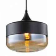 CYLINDER MEDIUM MATT BLACK SMOKE PENDANT