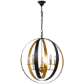 BLACK GOLD LEAF CONTEMPORARY RING LARGE PENDANT