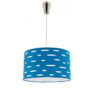 DARCY BLUE 1 LIGHT DRUM PENDANT