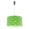 DARCY GREEN 1 LIGHT DRUM PENDANT