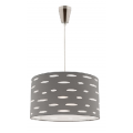 DARCY GREY 1 LIGHT DRUM PENDANT