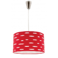 DARCY RED 1 LIGHT DRUM PENDANT