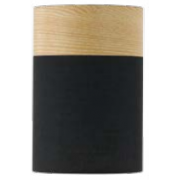 Lamp shades drum black oak batten fix mozeypictures Gallery
