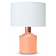ROSE GOLD WITH WHITE LAMP SHADE 58CM TABLE LAMP