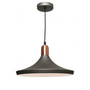 BROAD CHARCOAL INCL COPPER HIGHLIGHTS PENDANT