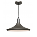 BROAD CHARCOAL INCL SATIN CHROME HIGHLIGHTS PENDANT