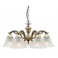 COTTAGE CLASSIC FIVE LIGHT ANTIQUE BRASS PENDANT
