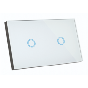 ELITE 2 GANG SMART WIFI GLASS WALL SWITCH