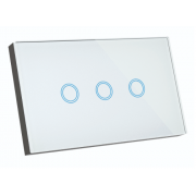 ELITE 3 GANG SMART WIFI GLASS WALL SWITCH