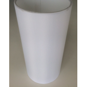 MASON AND FINCH SLIM DRUM WHITE LAMP SHADE 125(T) X 125(B) X 250(H)