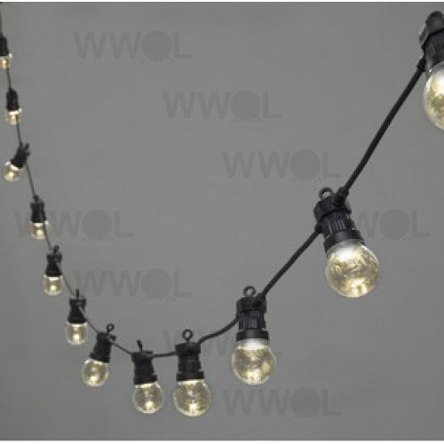 marquee black festoon 20 metre vintage string lights