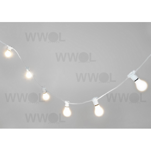 String Lights For Marquee : MARQUEE WHITE FESTOON 20 METRE VINTAGE STRING LIGHTS