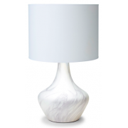 WHITE MARBLE PATTERN 62CM TABLE LAMP