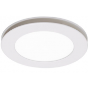 FLOW TRI COLOUR LED 250MM WHITE ROUND EXHAUST FAN LIGHT COMBO