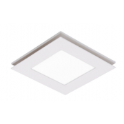 FLOW TRI COLOUR LED 250MM SQUARE ROUND EXHAUST FAN LIGHT COMBO