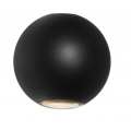 SPHERE UP DOWN LED BLACK EXTERIOR WALL LIGHT