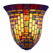 GEOMETRIC MULTI COLOUR LEADLIGHT WALL LIGHT