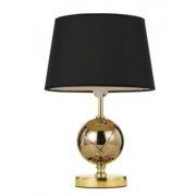 GLASS SPHERE GOLD TABLE LAMP