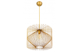 GOLD WIRE PRISM PENDANT LIGHT