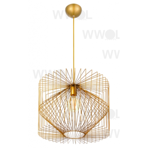 Gold wire prism pendant light aloadofball Choice Image