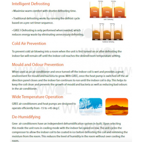 GREE 6 3KW INVERTER SPLIT SYSTEM AIR CONDITIONER