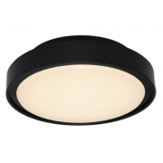 EXTERNAL LED LARGE OYSTER LIGHT BLACK