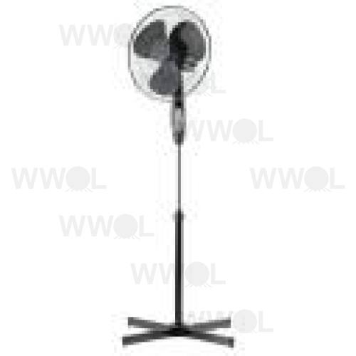 40CM BLACK PEDESTAL FAN INCLUDING REMOTE