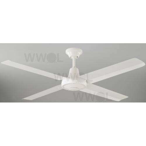 Hurricane 130cm white 4 blade ceiling fan mozeypictures Gallery